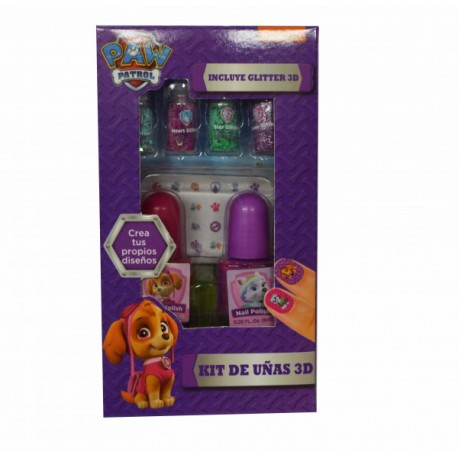 Kit de Uñas 3D - Paw Patrol - Envío Gratuito