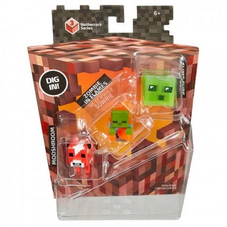 Minecraft Mini Figuras 3 Pack - Envío Gratuito
