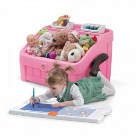 Caja de Juguetes y Arte - Rosa - Envío Gratuito