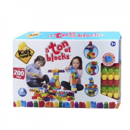 Kids Work Bloques 200 piezas - Envío Gratuito