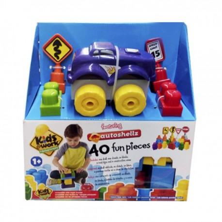 Kids Work Set Autosellz 40 piezas - Envío Gratuito