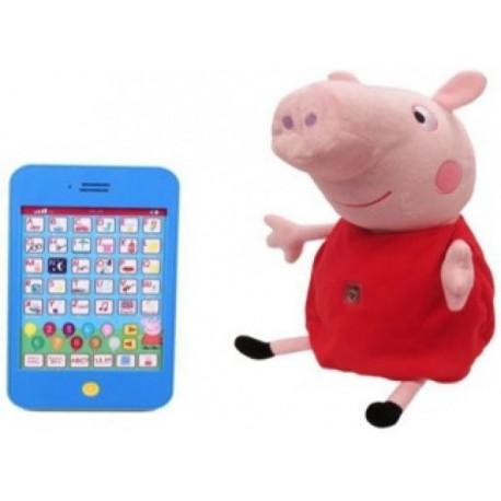 Peppa Pig Peluche Interactivo con Tablet - Envío Gratuito