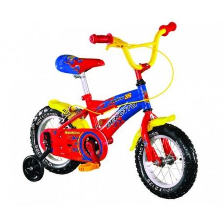 Bicicleta Bambino R12 1V.Ruedas Laterales Llanta Benotto-Motocross - Envío Gratuito