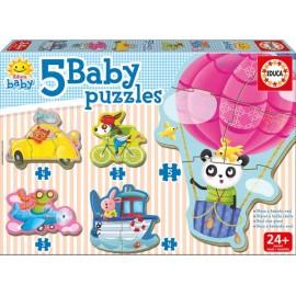 Baby Puzzle Animales Al Volante