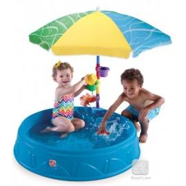 Alberca con Paraguas y accesorios - Envío Gratuito