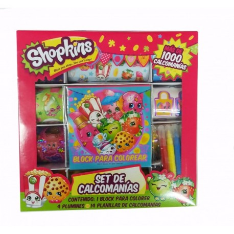 Set de Calcomanias - Shopkins - Envío Gratuito