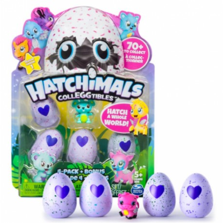 Hatchimals CollEGGtibles - 4 pack mas bonus - Envío Gratuito