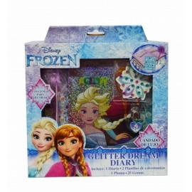 Diario Glitter Frozen - Envío Gratuito