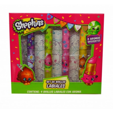 Set Brillo Labial - Shopkins - Envío Gratuito